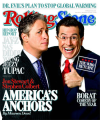 Colbert and Daily Show choose SnapStream (rolling stone cover)