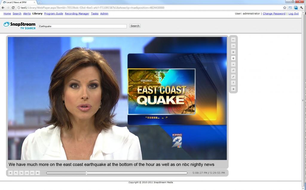 East coast earthquake
