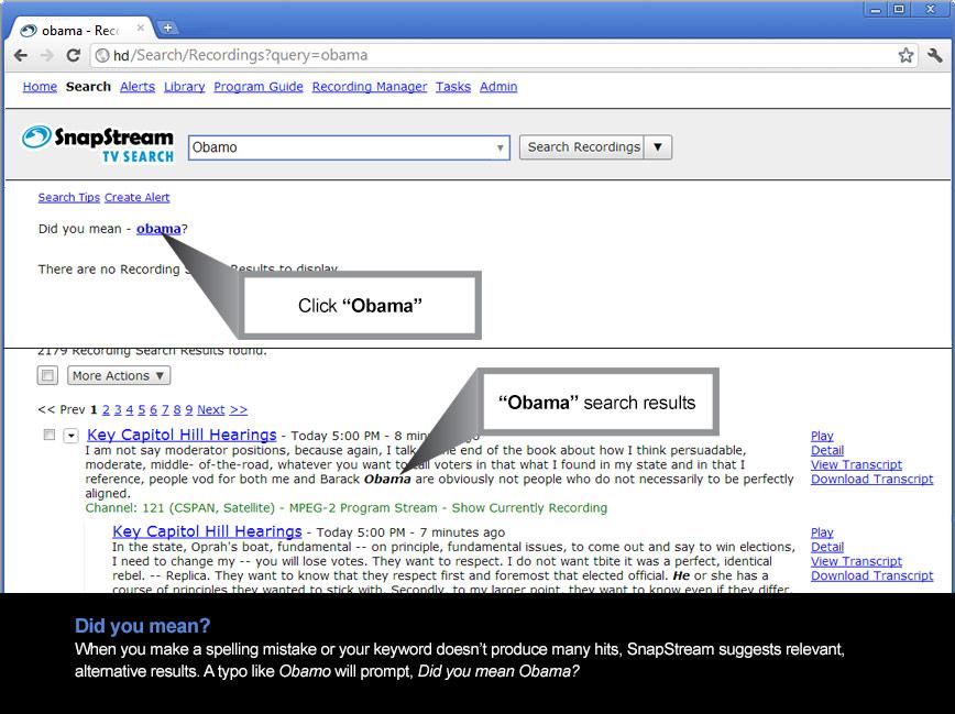 Advanced TV search engine