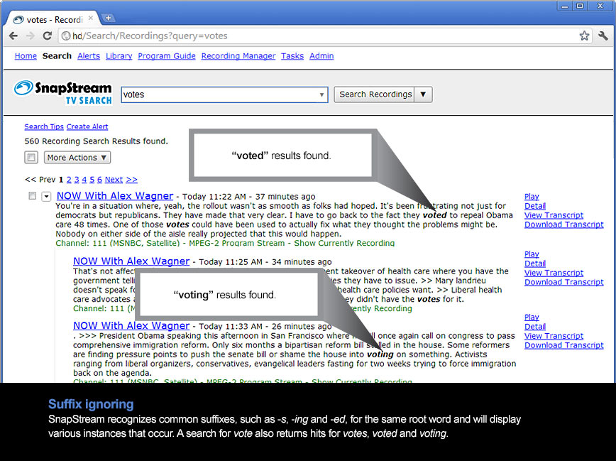 Linguistic Intelligence - SnapStream TV Media Monitoring and Search