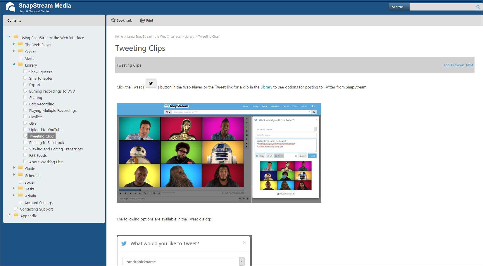 SnapStream Help File