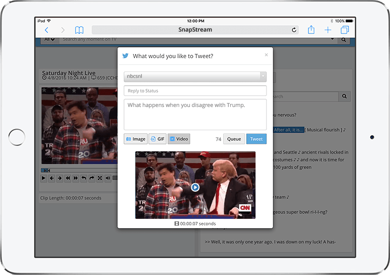 Full iPad support for SnapStream